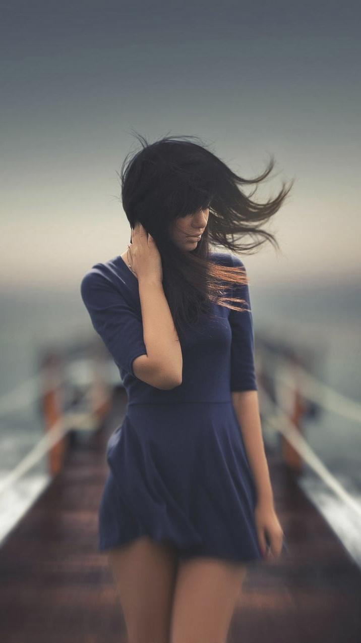 Alone Girl iphoneswallpapers com