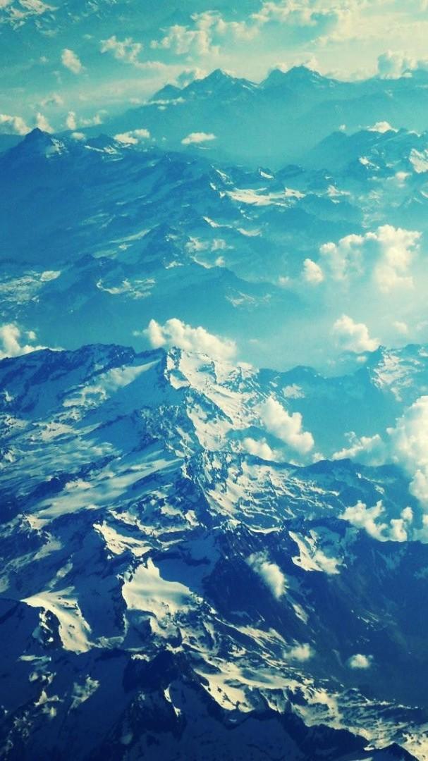 Alps Heaven Landscapes Nature iPhone Wallpaper iphoneswallpapers com