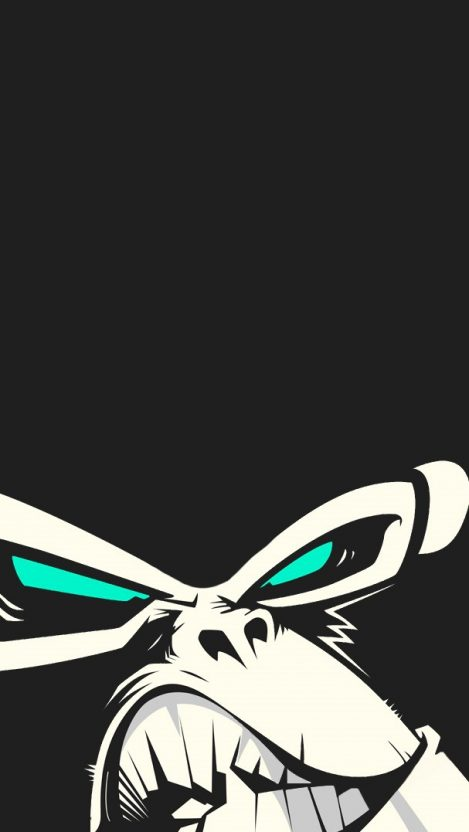 Angry Gorilla iPhone Wallpaper iphoneswallpapers com