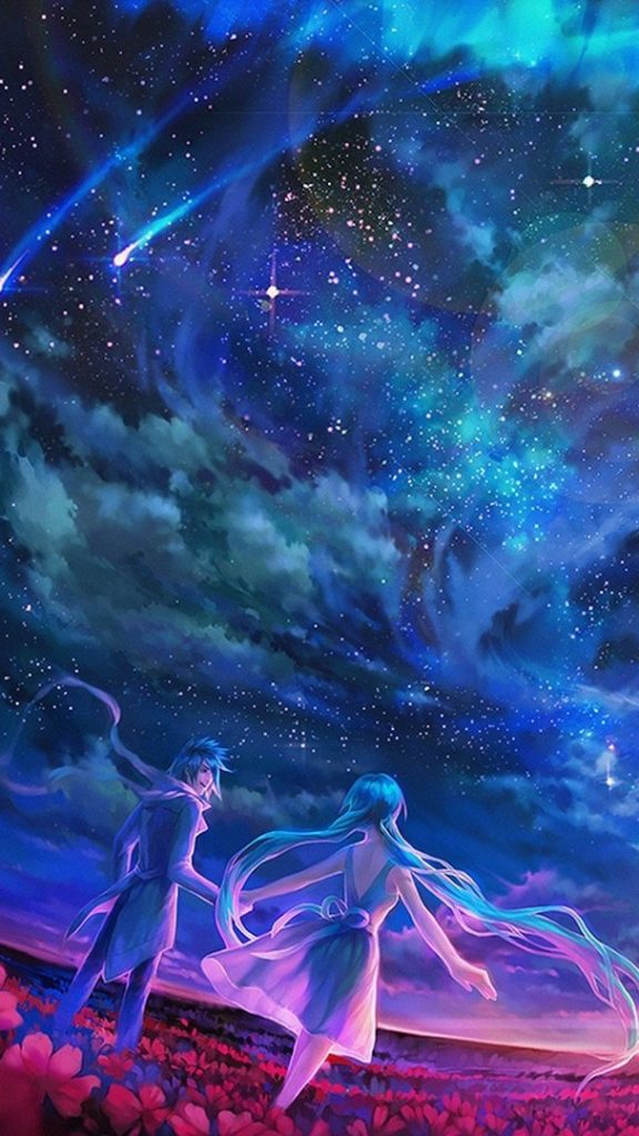 LongHairsAnimeGirliPhoneWallpaper  iPhone Wallpapers