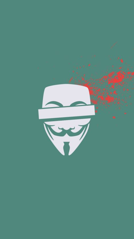 Anonymous Blood Minimal iPhone Wallpaper iphoneswallpapers com