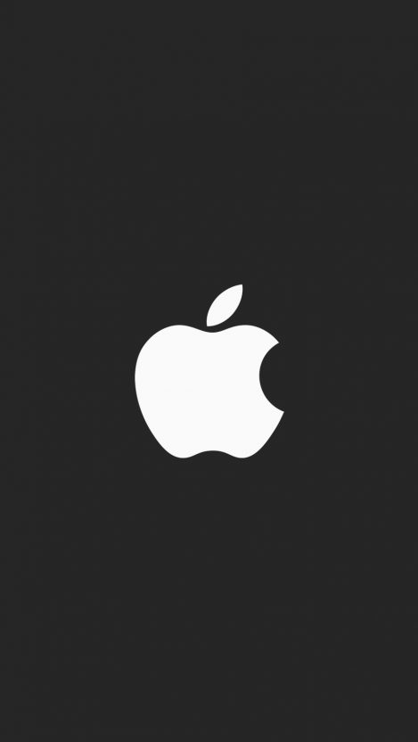 Apple minimal logo black iPhone Wallpaper iphoneswallpapers com
