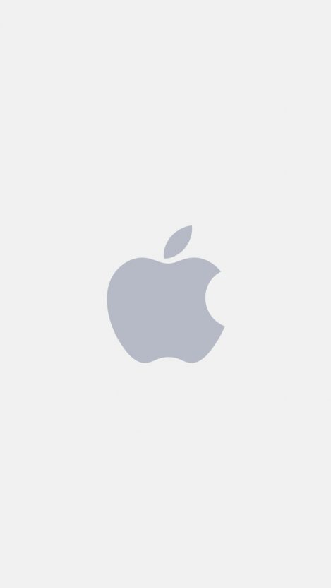 Apple minimal logo white iPhone Wallpaper iphoneswallpapers com