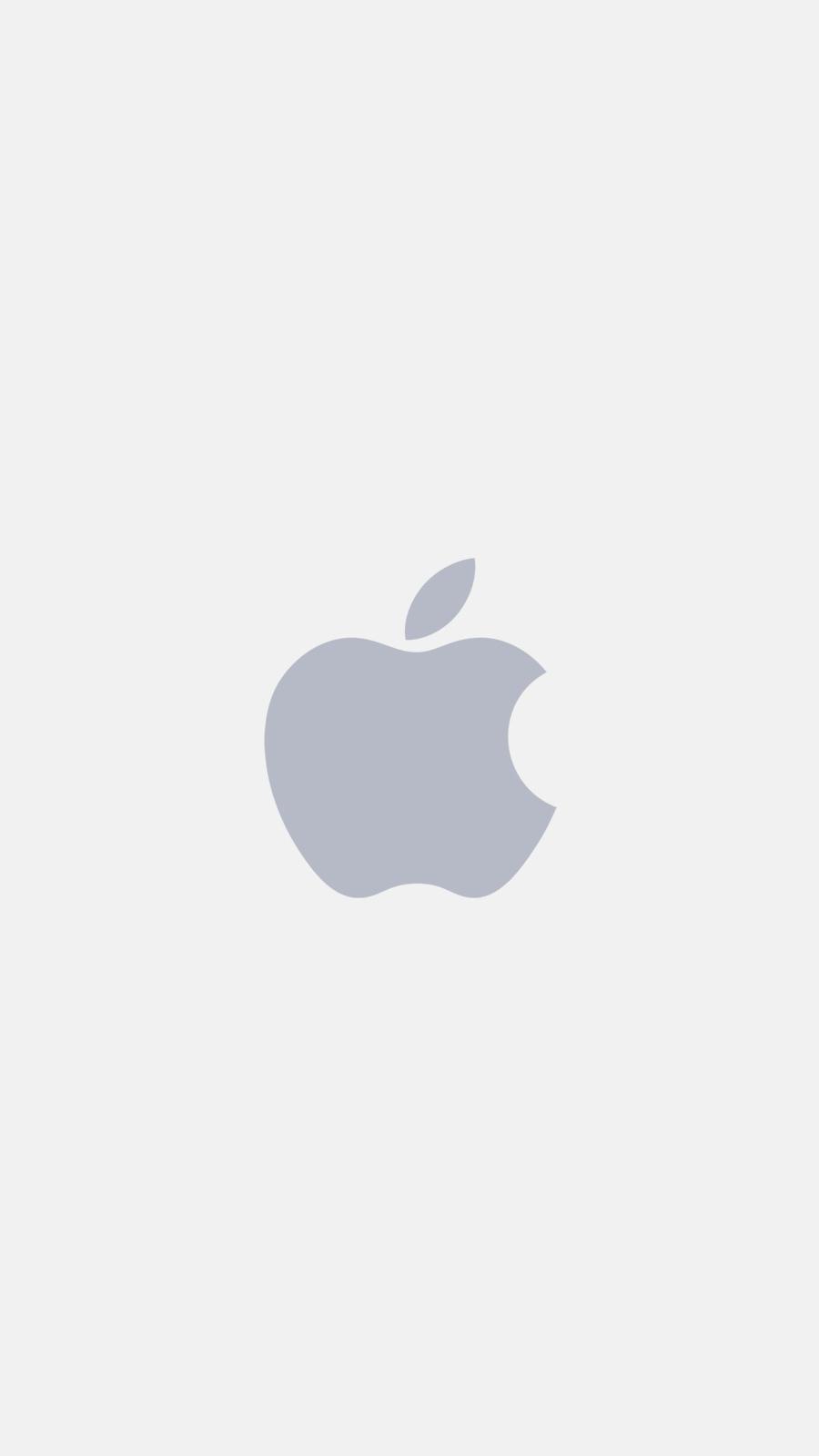 Apple minimal logo white iPhone Wallpaper iphoneswallpapers com