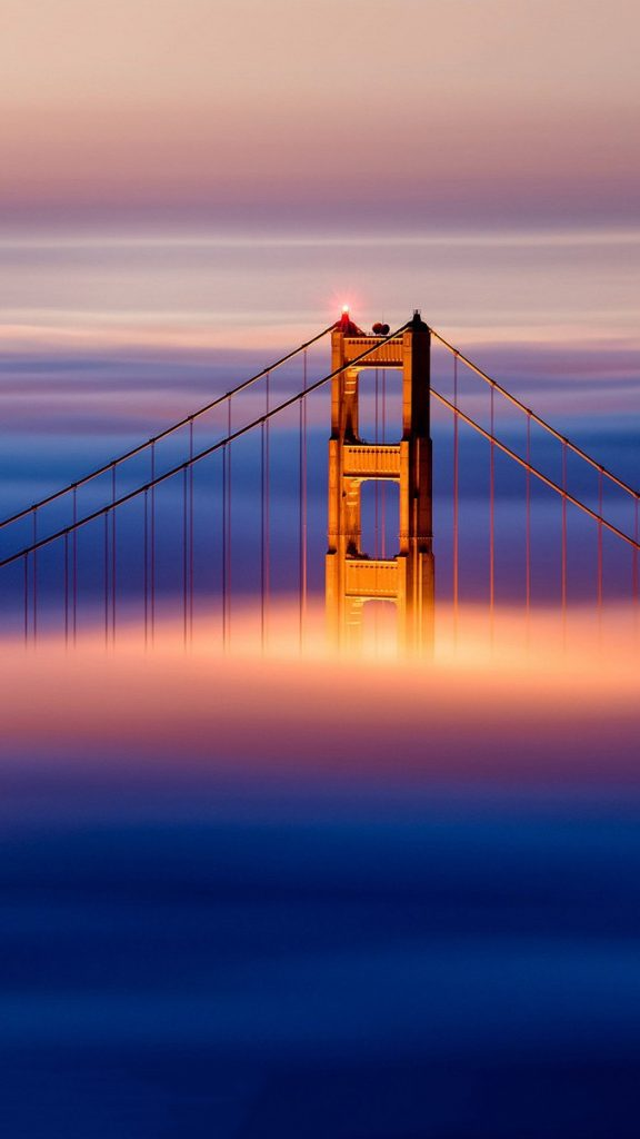 Golden Gate Bridge Clouds iPhone wallpaper iphoneswallpapers com