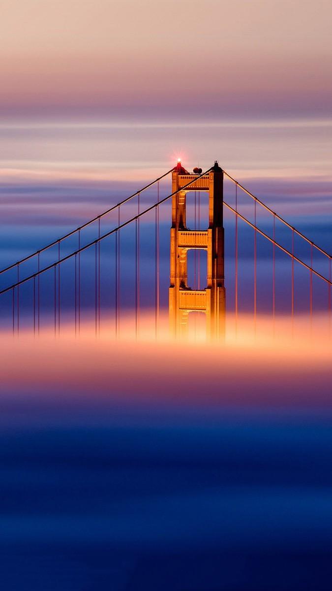 Golden Gate Bridge Clouds iPhone wallpaper iphoneswallpapers com