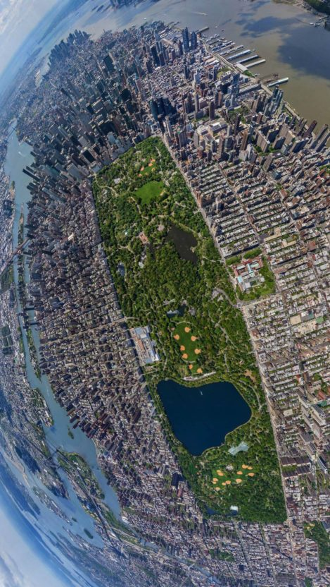 Central Park New York City Sky View iPhone Wallpaper iphoneswallpapers com