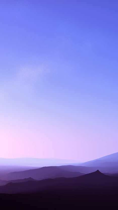 Clear Sky Sunset Fog Over Mountains iPhone Wallpaper iphoneswallpapers com