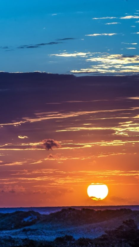 Clouds Over The Sun Sunset iPhone Wallpaper iphoneswallpapers com