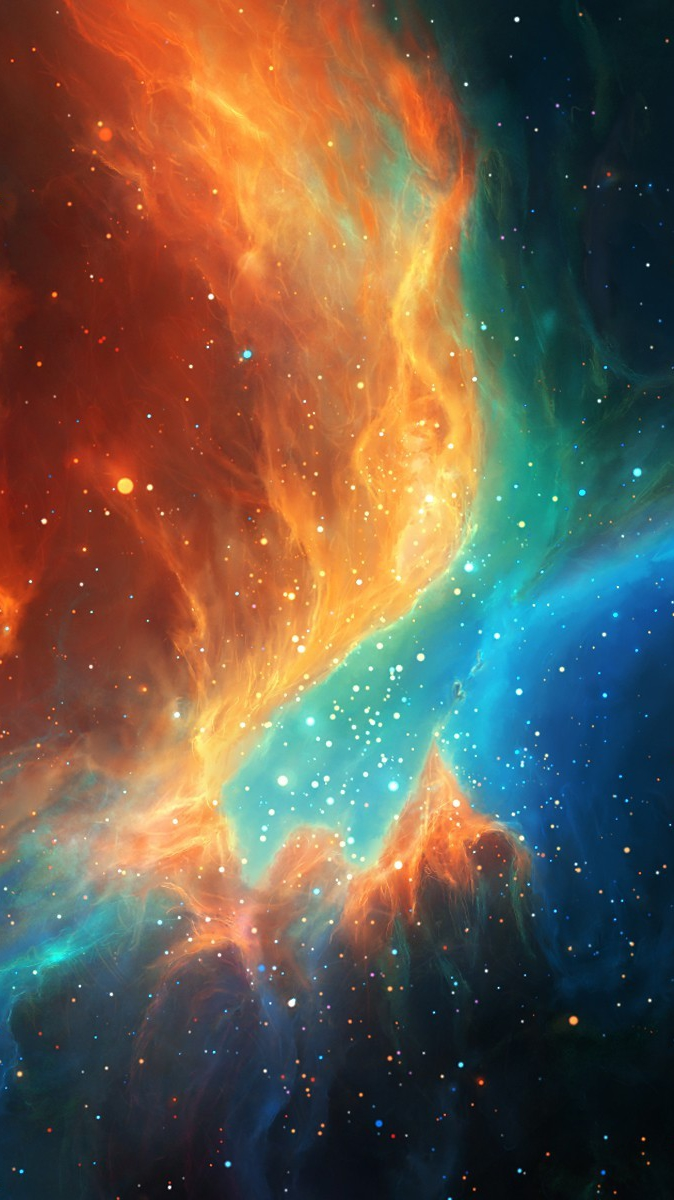 colorful nebula iphone wallpaper -#main