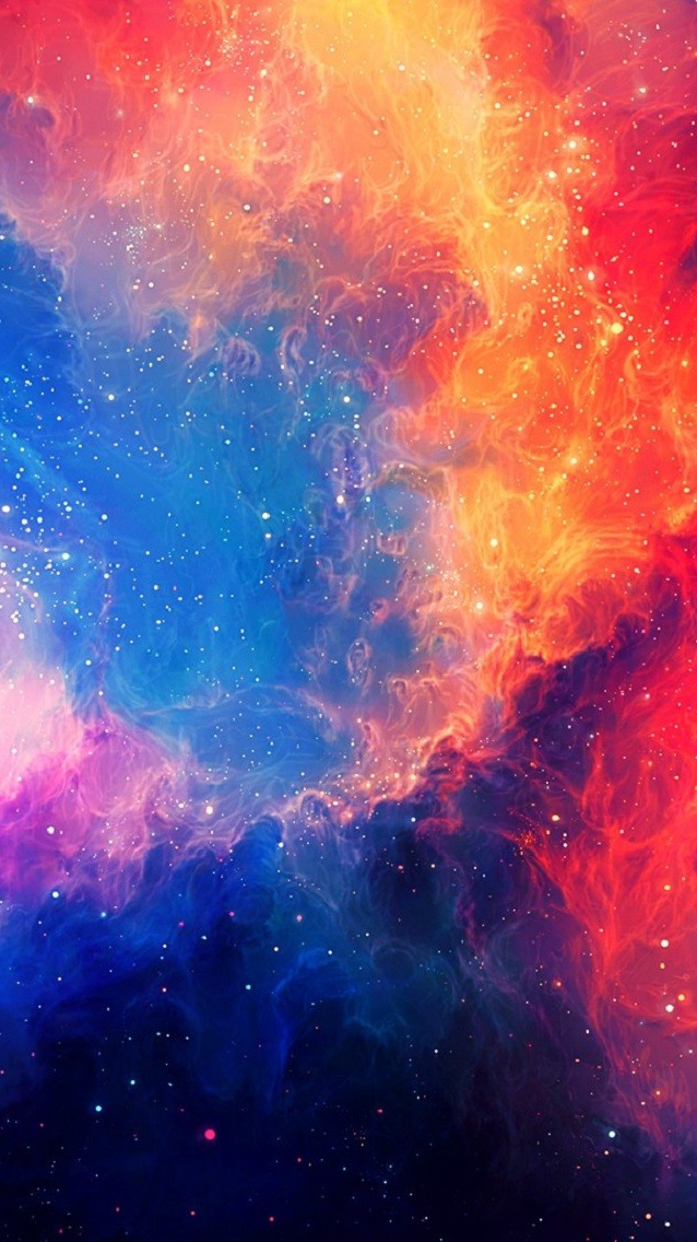 Colorful Universe Painting iPhone Wallpaper iphoneswallpapers com
