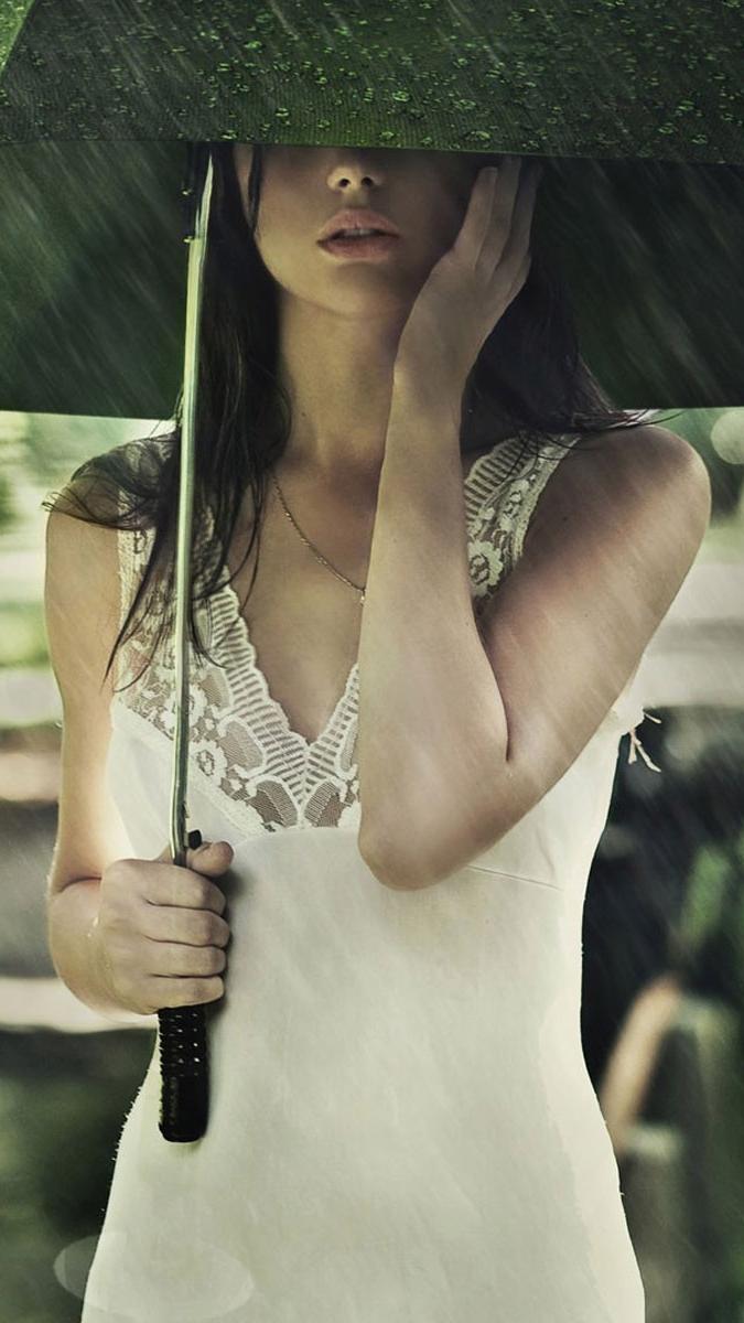 Girl With Umbrella iPhone Wallpaper iphoneswallpapers com