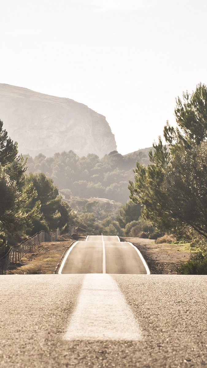 Gradient Road iPhone Wallpaper iphoneswallpapers com