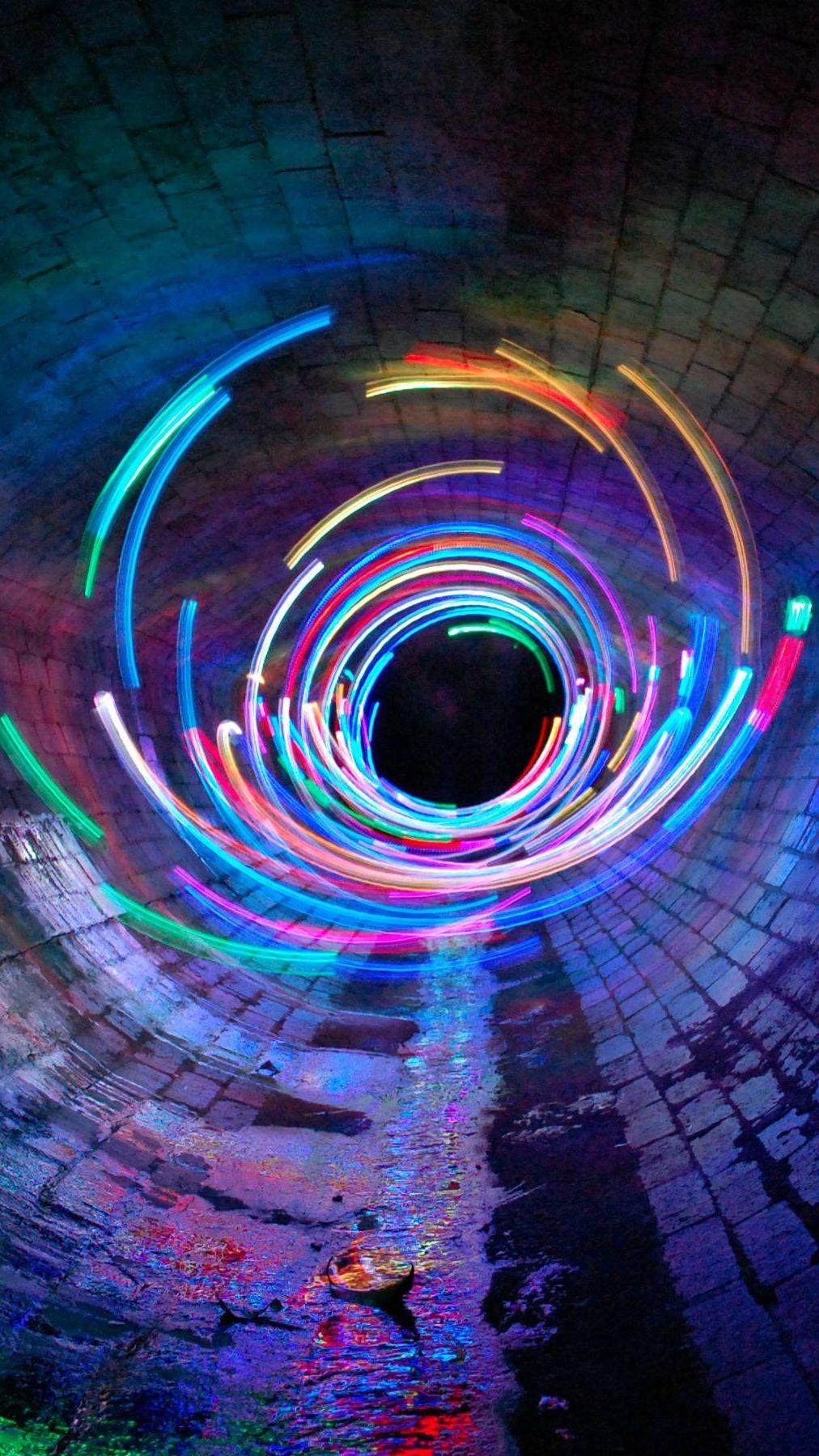 Long Exposure Lights Tunnel iPhone Wallpaper iphoneswallpapers com