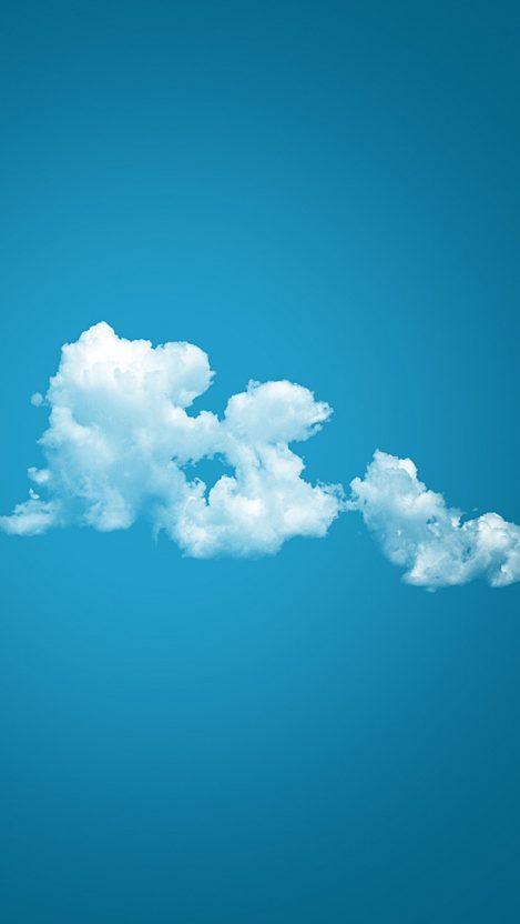 Minimal Clouds iPhone Wallpaper iphoneswallpapers com