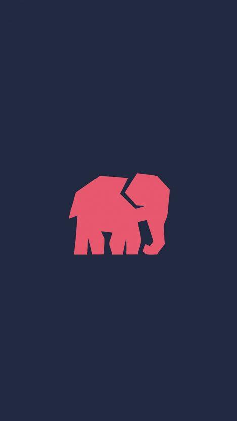 Minimal Elephant iPhone Wallpaper iphoneswallpapers com