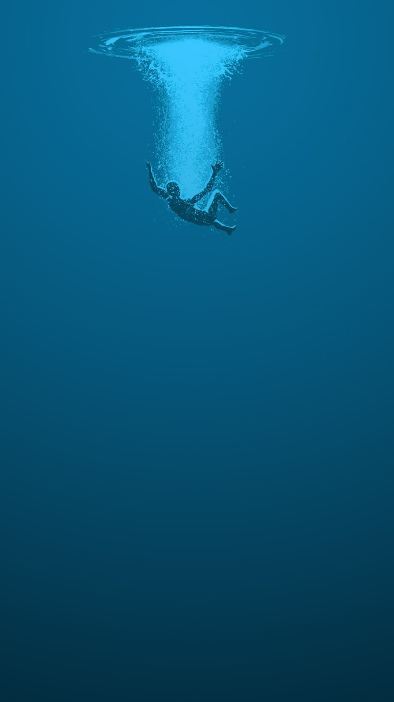 Drown in Water iPhone Wallpaper iphoneswallpapers com