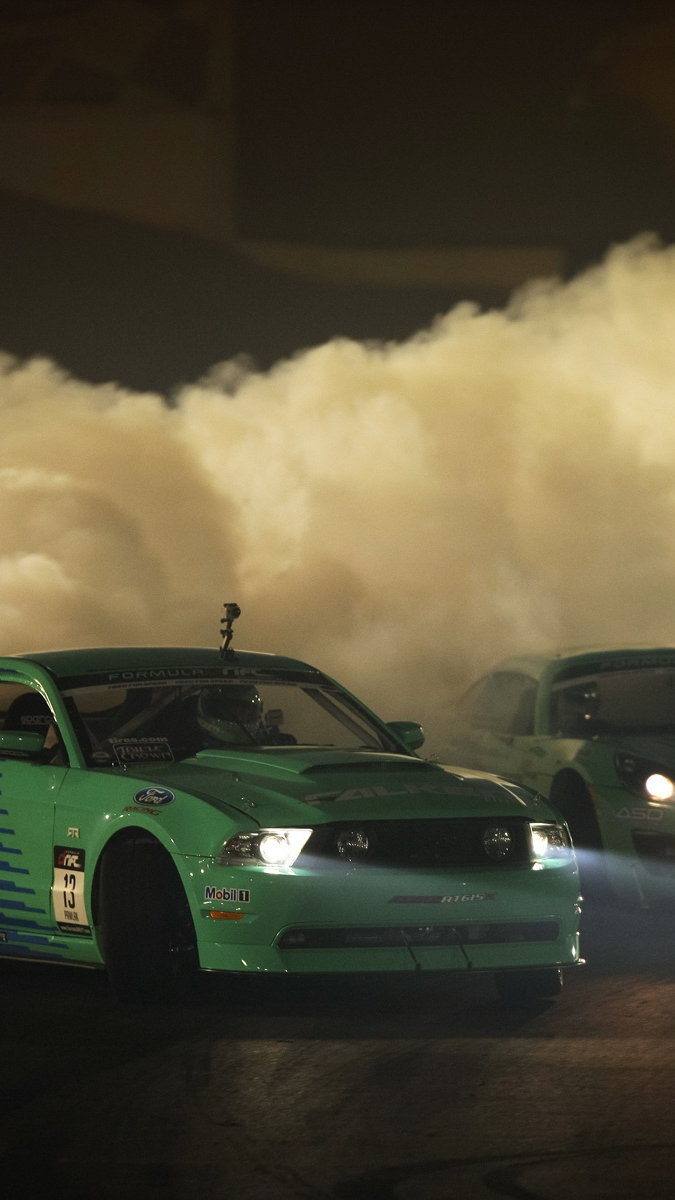 Ford Mustang Drifting iPhone Wallpaper iphoneswallpapers com