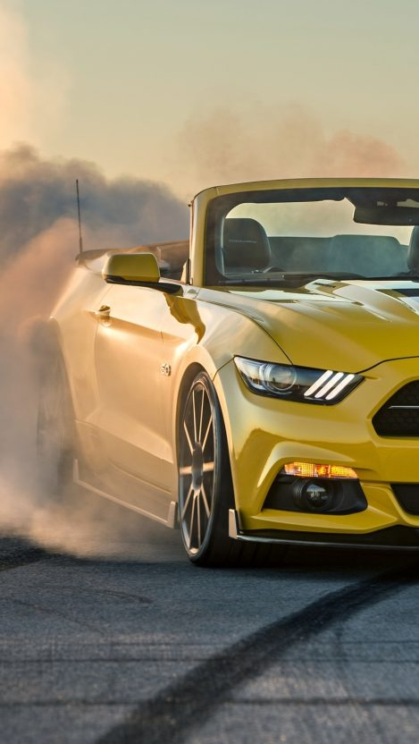 Ford Mustang Gt Convertible Burnout Iphone Wallpaper