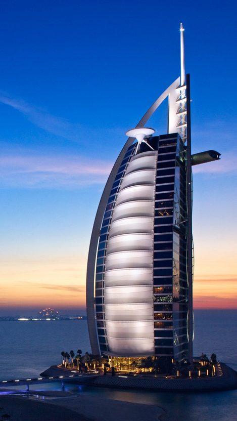 Burj Al Arab Hotel iPhone Wallpaper iphoneswallpapers com