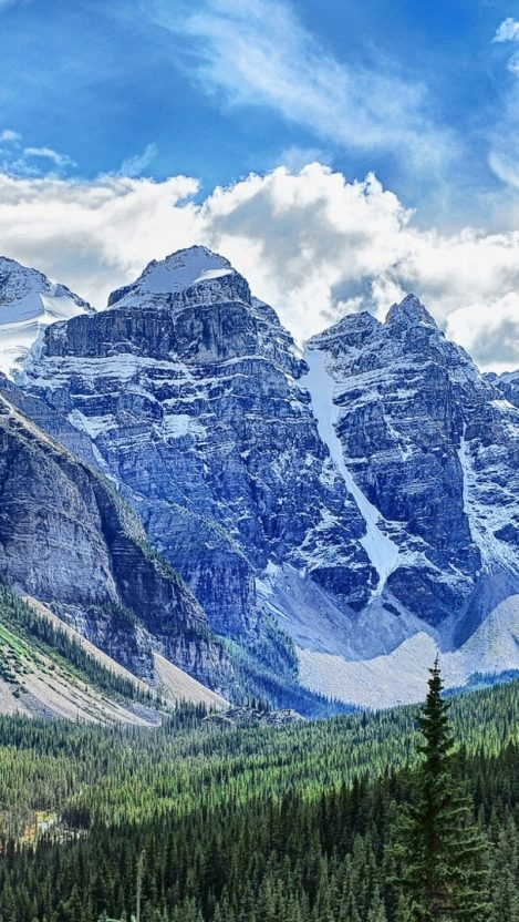 Canadian Rockies Banff National Park iPhone Wallpaper iphoneswallpapers com