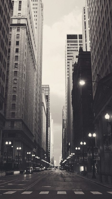 Chicago Financial District IPhone Wallpaper