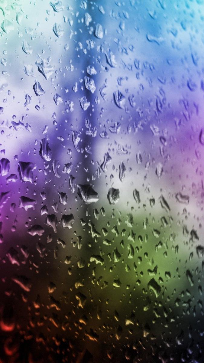 Colorful Rain iPhone Wallpaper iphoneswallpapers com