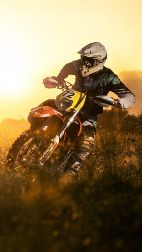 Dirtbike in Mud iPhone Wallpaper iphoneswallpapers com