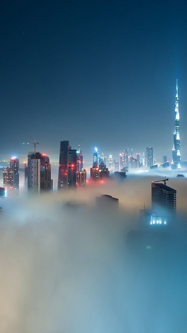 Dubai Cityscapes In Night Iphone Wallpaper Iphone Wallpapers