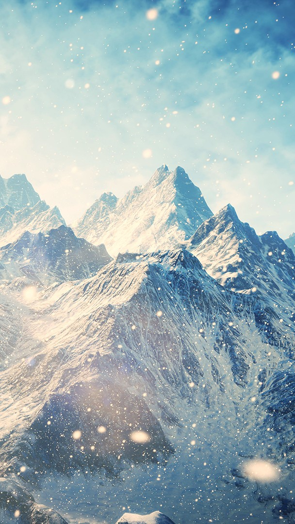 Falling Ice on Mountains iPhone Wallpaper iphoneswallpapers com