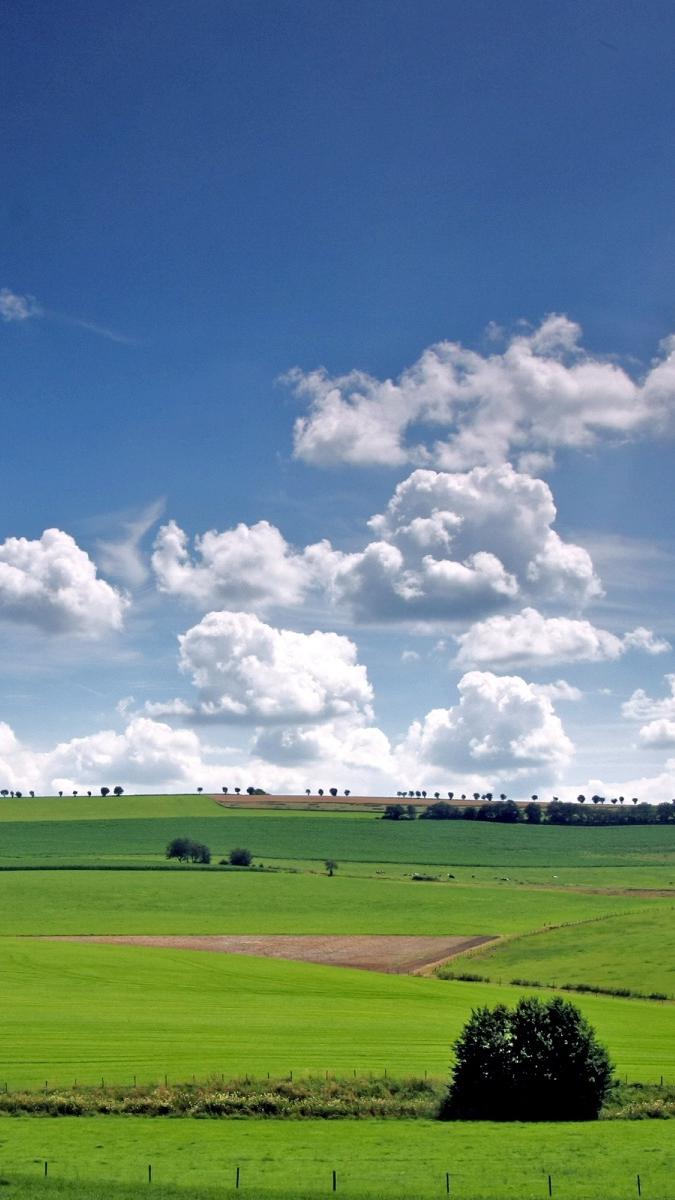 Fields Sky Landscape iPhone Wallpaper iphoneswallpapers com