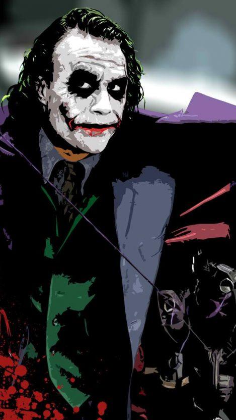 Heath Ledger Joker Wallpaper iPhone Wallpaper iphoneswallpapers com