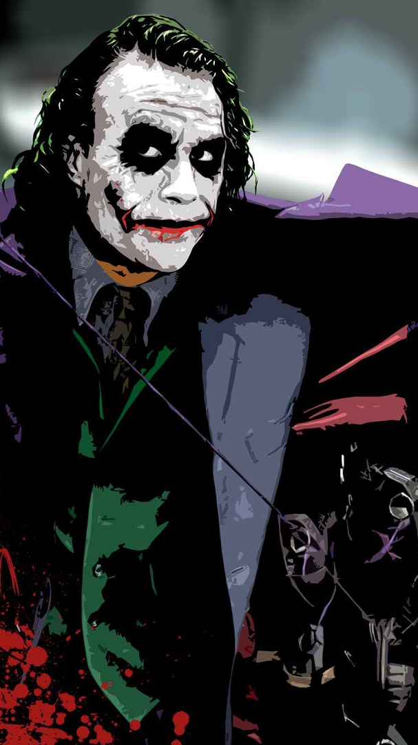 Heath Ledger Joker Wallpaper iPhone Wallpaper iphoneswallpapers com