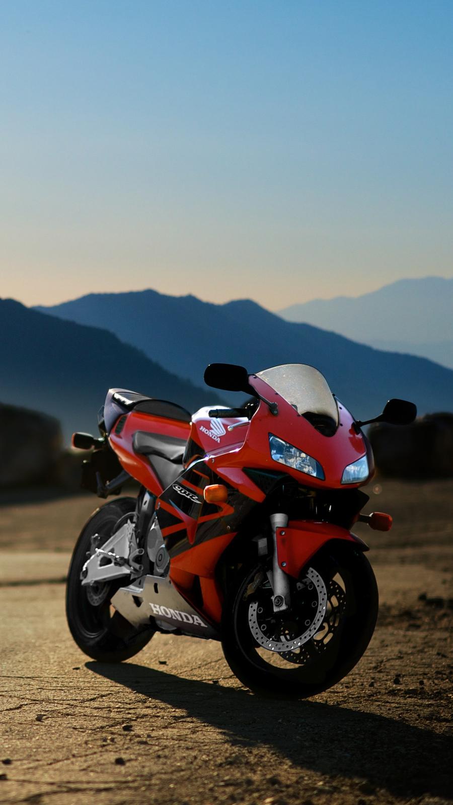 Honda CBR600rr Red Motorcycle iPhone Wallpaper iphoneswallpapers com