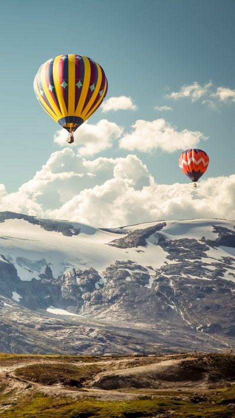 Hot Air Balloons 5k iPhone Wallpaper iphoneswallpapers com