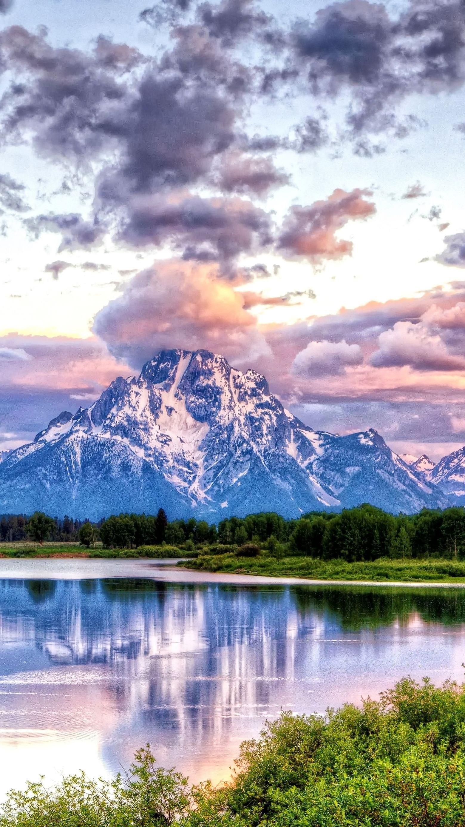 Oxbow Bend Grand Teton National Park iPhone Wallpaper iphoneswallpapers com