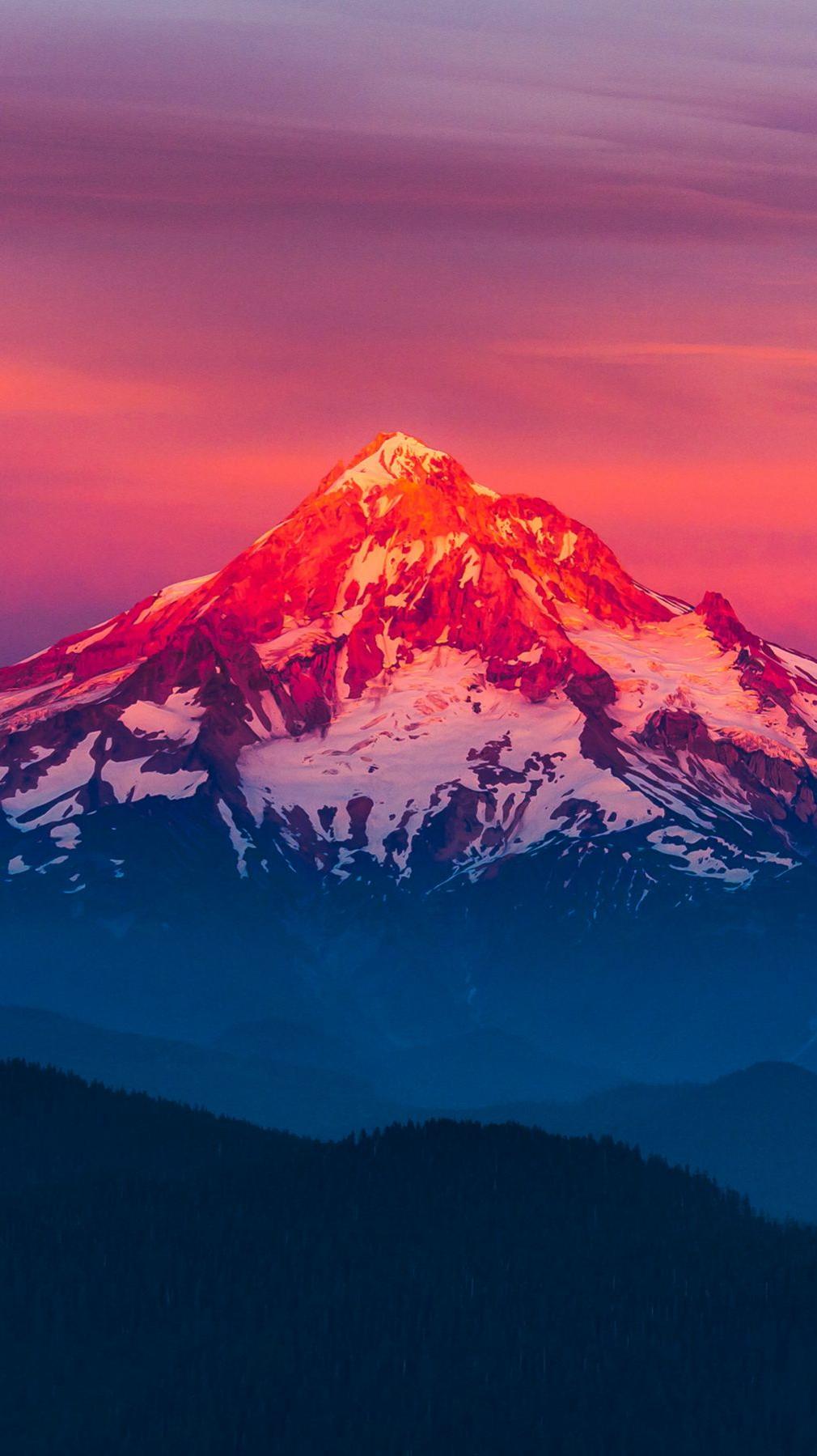 Red Mountain Sunrise Wallpaper iPhone Wallpaper iphoneswallpapers com