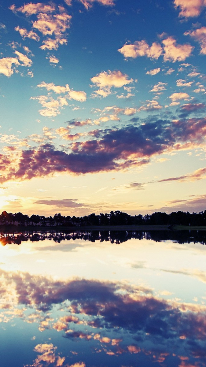 Reflection of Sky in Lake iPhone Wallpaper iphoneswallpapers com