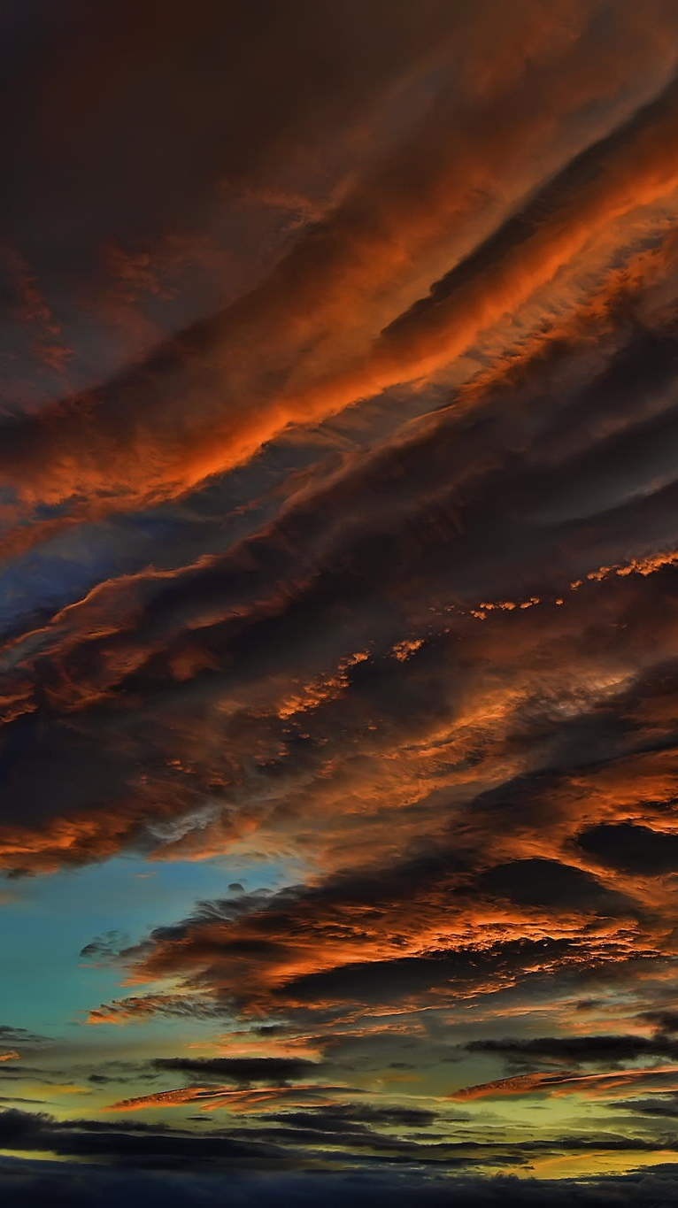 clouds sunset iPhone Wallpaper iphoneswallpapers com