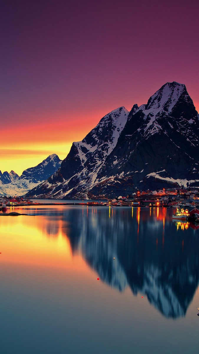 Mountain-Lofoten-Norway-sky-sea-lofoten-islands-iPhone