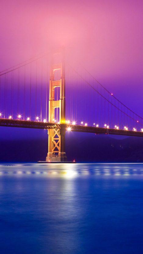 goldengatebridgeeveninglightsiphonewallpaper