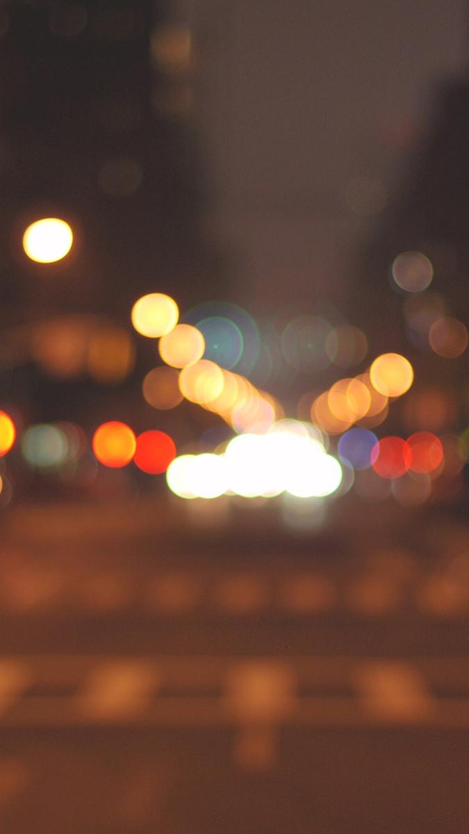 Halo Blurry Bokeh Road iPhone Wallpaper iphoneswallpapers com