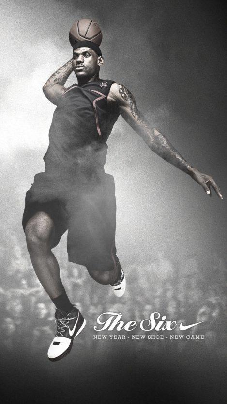 LeBron James Basketball Player iPhone Wallpaper iphoneswallpapers com