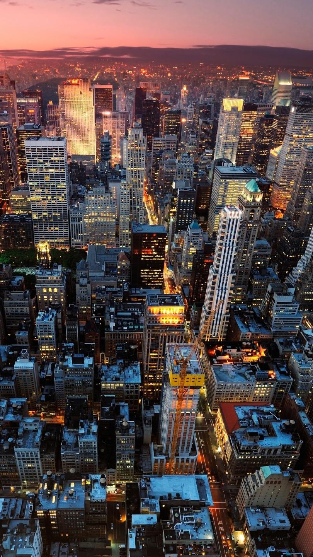 Manhattan New York Buildings iPhone Wallpaper iphoneswallpapers com