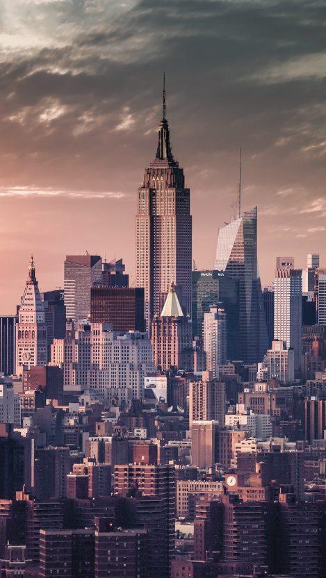 Manhattan Skyscrapers New York iPhone Wallpaper iphoneswallpapers com