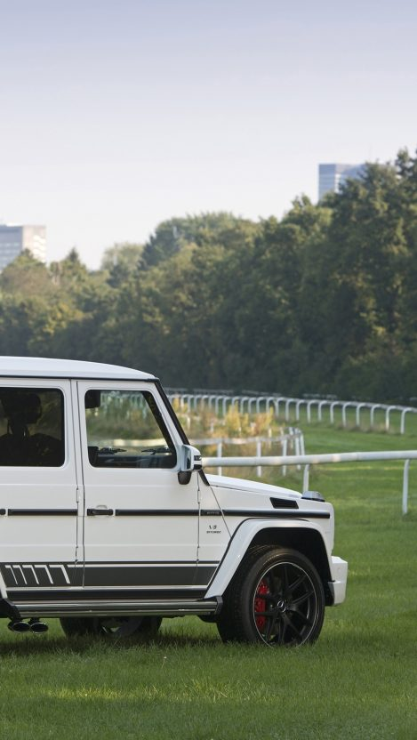 Mercedes AMG G 63 White iPhone Wallpaper iphoneswallpapers com