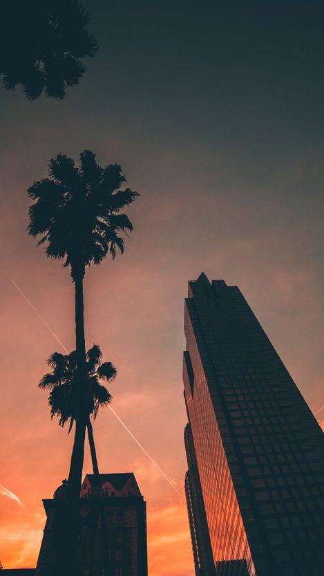 Miami Sunset Sky Buildings IPhone Wallpaper