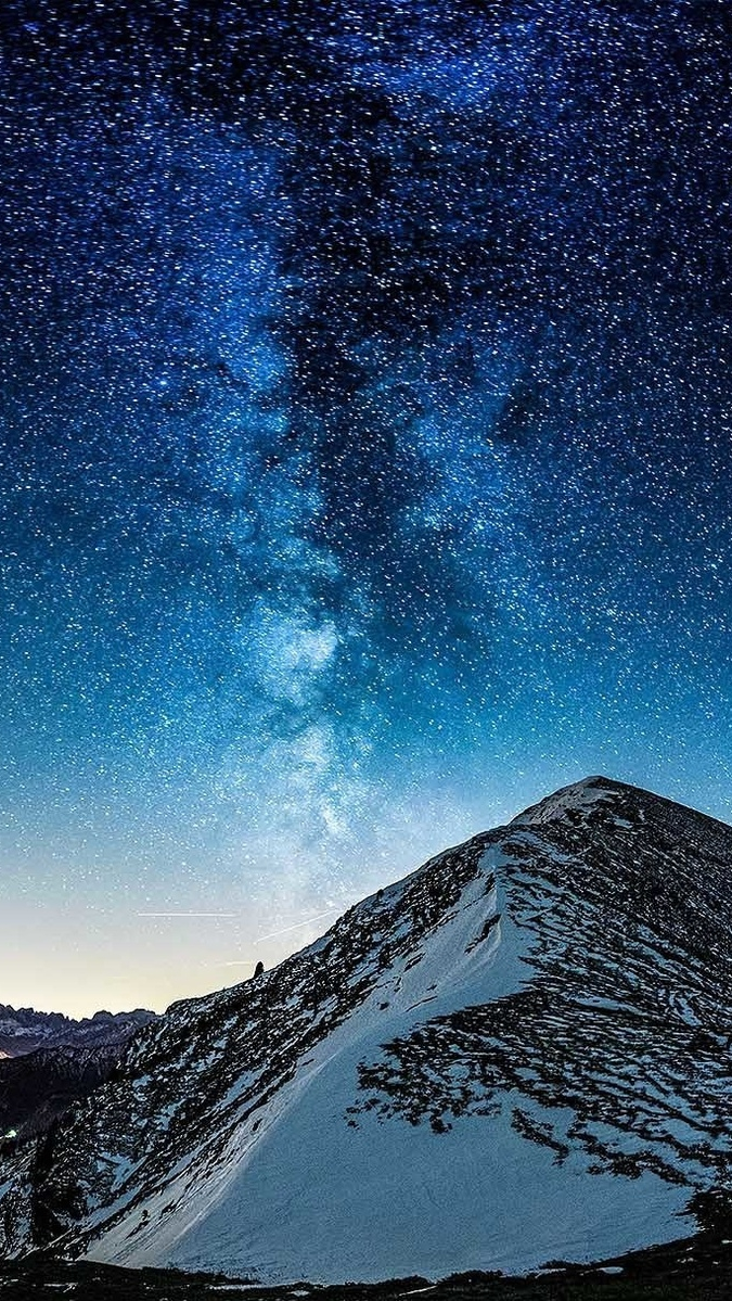 Milky Way Galaxy View From Mountain iPhone Wallpaper iphoneswallpapers com