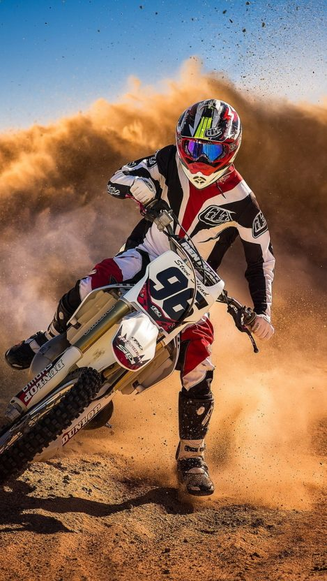 Motocross Biker Mud Racing iPhone Wallpaper iphoneswallpapers com