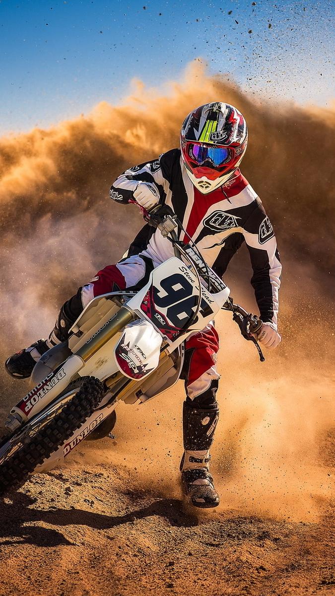 Motocross Biker Mud Racing Iphone Wallpaper Iphone